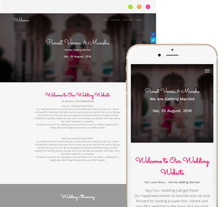 Wedding Website